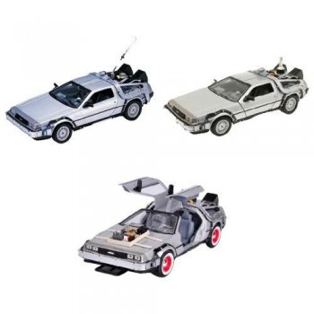 Welly Geleceğe Dönüş Ful Set 1-2-3 Metal Model Araba Back To The Future