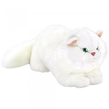 Animals Of The World Yatan Beyaz Kedi Peluş Oyuncak 34 cm