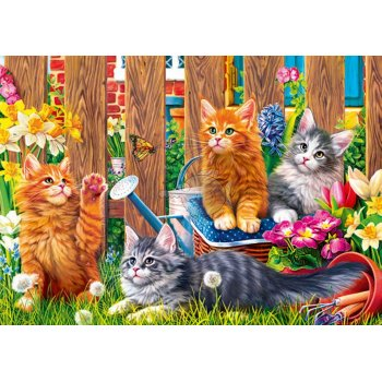 Trefl Puzzle Kittens İn The Gard 500 Parça Puzzle