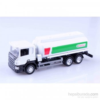 Castrol Scania P-Series 1/64 Çek Bırak Die Cast Model Araç
