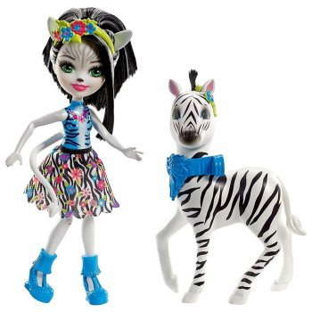 Enchantimals Zelene Zebra Ve Hoofette Oyun Seti
