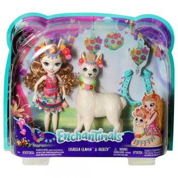 Enchantimals Lluella Llama Ve Fleecy Oyun Seti